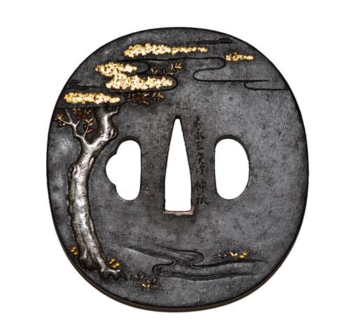 牧牛図鐔  土屋昌親c-6-2masachika