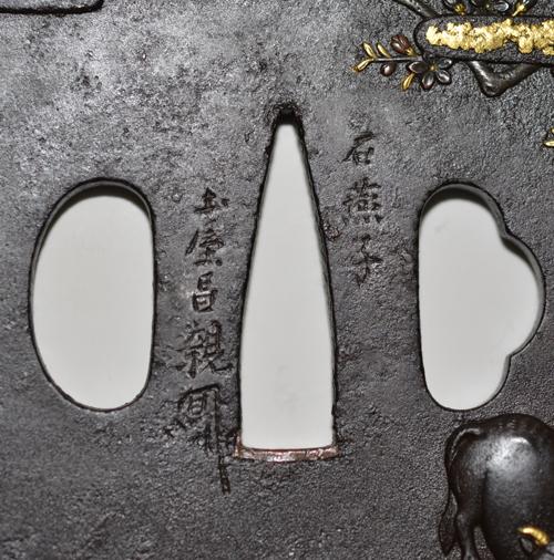 牧牛図鐔  土屋昌親c-6-3masachika